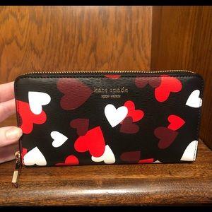 Kate Spade-Spencer Celebration Hearts Zip Wallet
